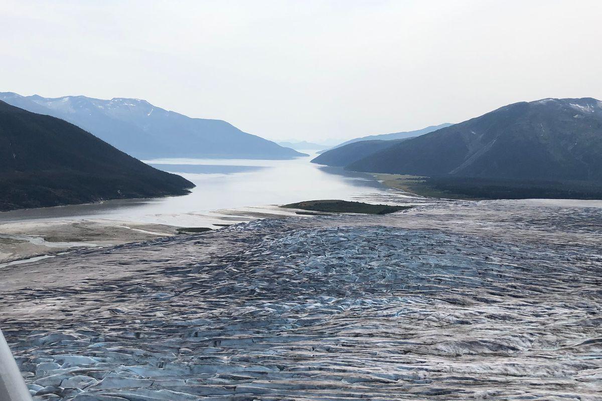 El glaciar Taku también ha empezado a retroceder